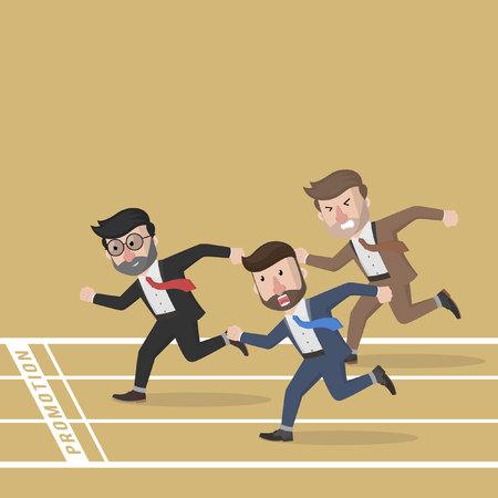 business competition: Business man marathon competition