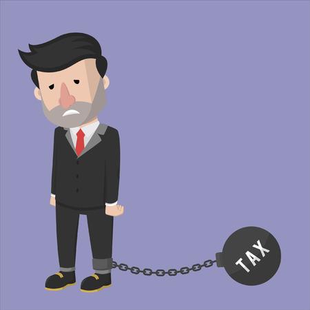 stress ball: Business man tax chain