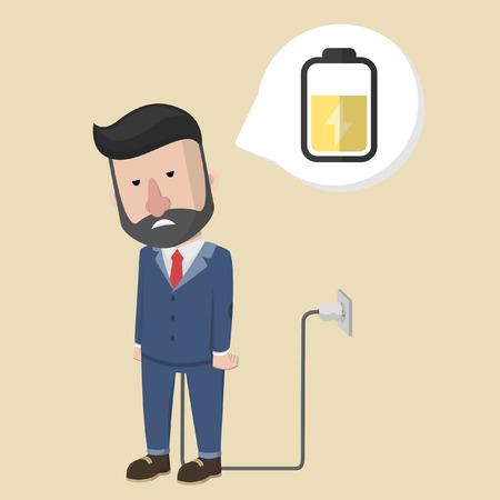 unplug: business man energy charging