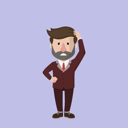 dizziness: Business man feel dizzines