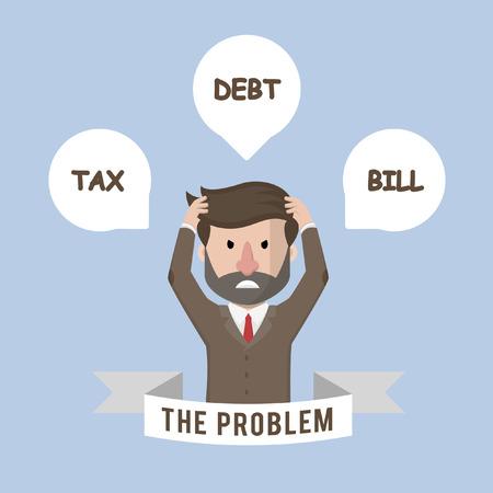 issue: Business man big problem