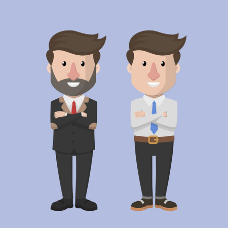 old business man: Young and old business man Illustration