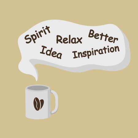 Coffee imagination taste Vetores
