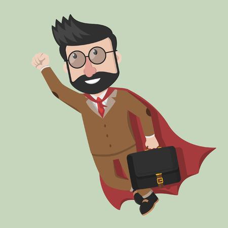 flying man: Business man super flying