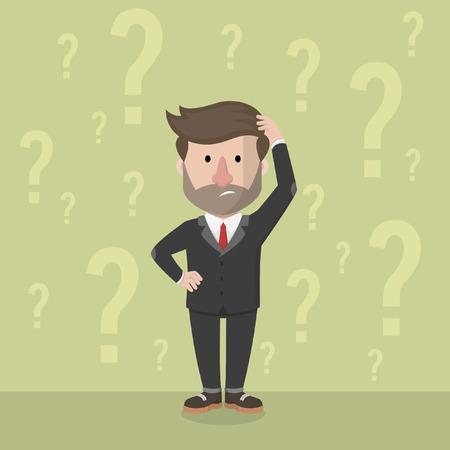 confundido: hombre de negocios confundido