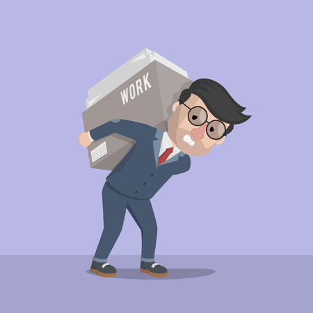 stack of files: Business man work hard