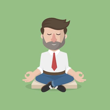 L'homme d'affaires temps de relaxation