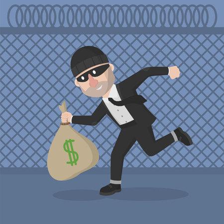 robo: hombre de negocios ladrón robó dinero