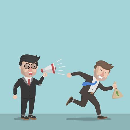 run away: Business man run away with the money