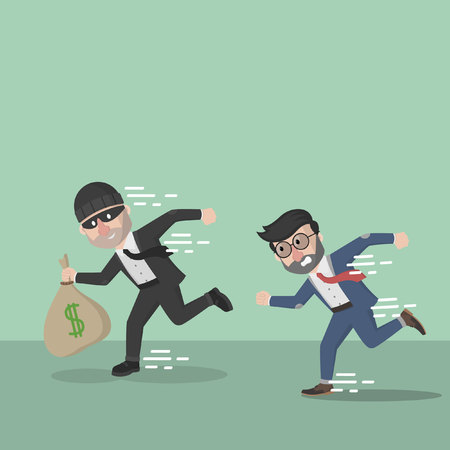 catch: business man catch a thief
