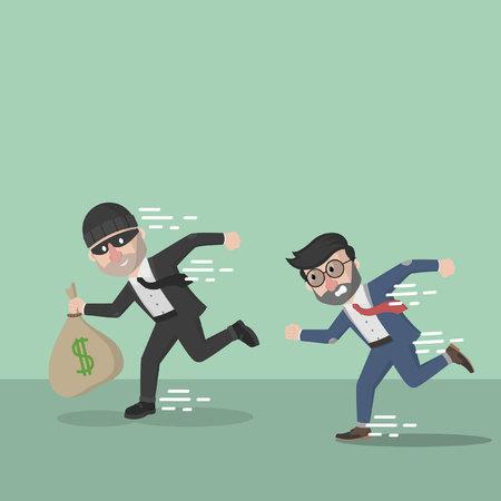 atrapar: hombre de negocios atrapar a un ladr�n