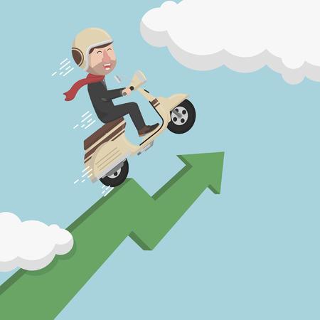 grow up: Business man speed grow  up progress