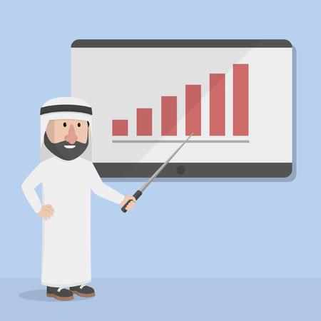 arabian: businessman arabian presentation Illustration