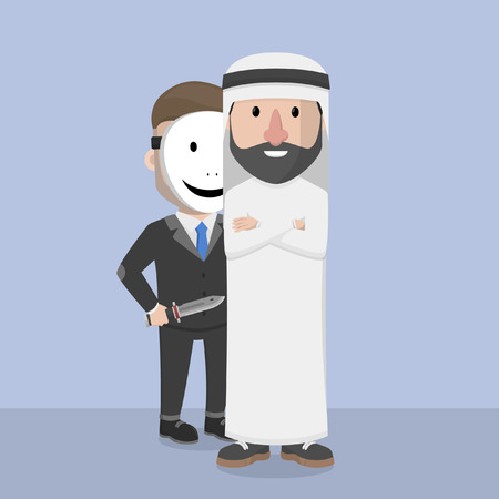 betrayal: arab businessman berpatner with traitors