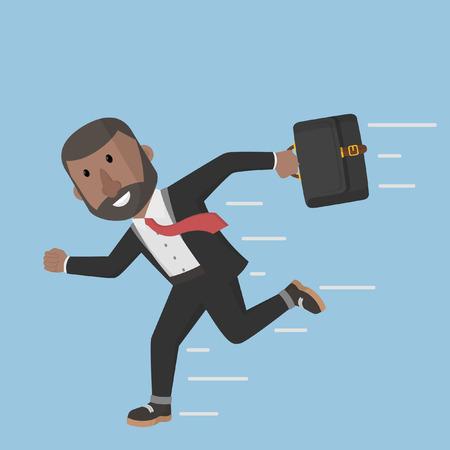 businessman running: businessman running to the office Illustration