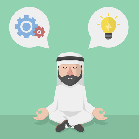 relaxation: businessman arabian relaxation planning and idea