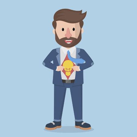 showing: businessman showing idea symbol