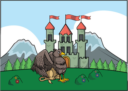 griffin: Griffin and castle