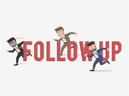 follow up business illustration concept Illustration