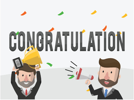 congratulation: congratulation businessmen illustration concept