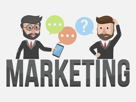 marketing team: marketing team business illustration