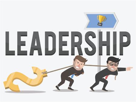 lead rope: leadership businessmen interesting money