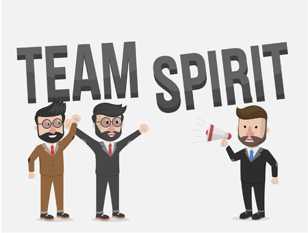 cooperating: team spirit business illustration concept