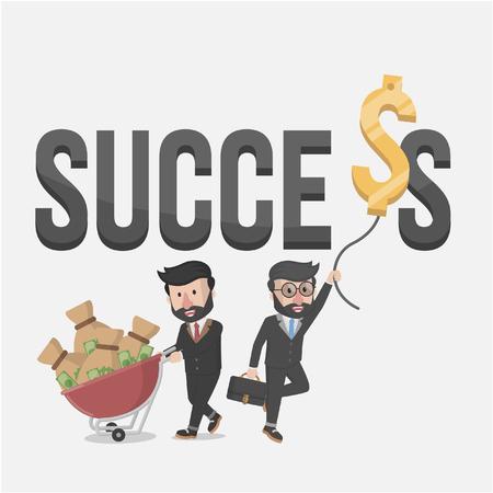 success concept: success business illustration concept
