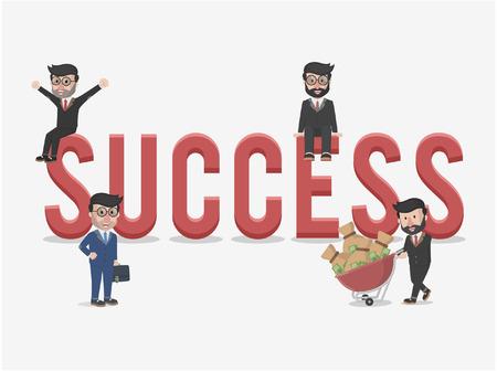 entrepreneurs: successful entrepreneurs business illustration concept