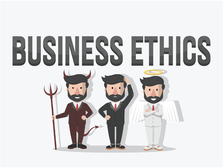 conscience: business ethics illustration Illustration