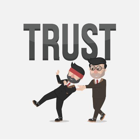 trust business man Illustration