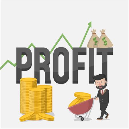 high stakes: profit business illustration Illustration