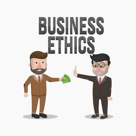 business not ethics Vector Illustration