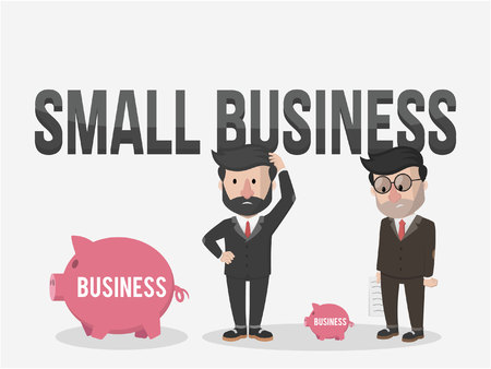 small business: small bank business Illustration