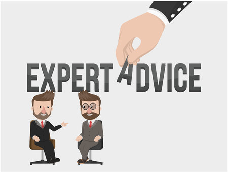 advising: businessman get from expert advice