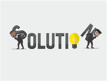 solution: solution business man