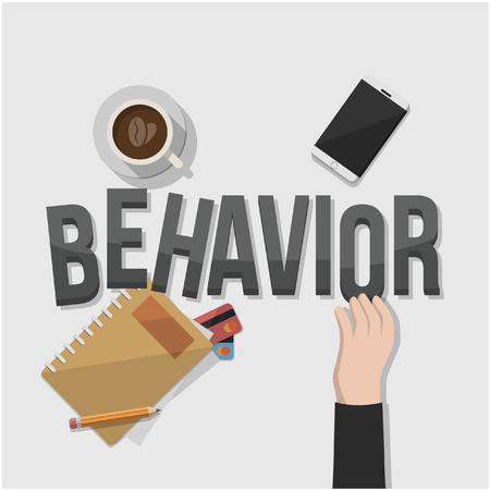 behavior: rule behavior businessman illustration design