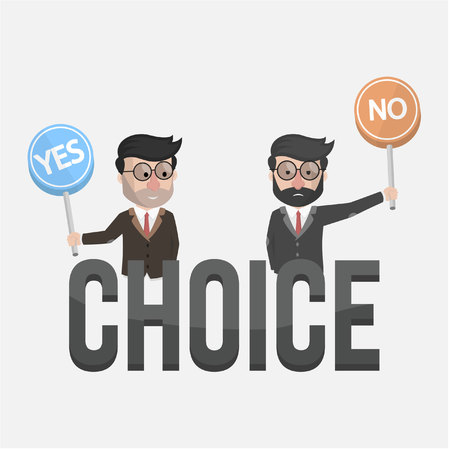 yes no: choice two businessman yes or no