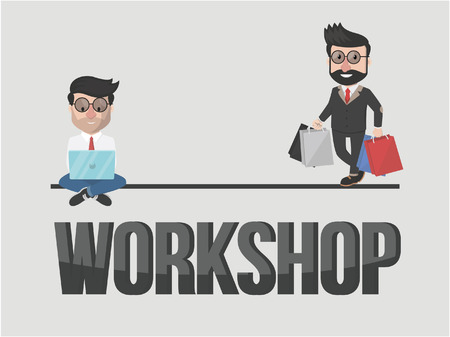 desk toy: businessman workshop illustration design