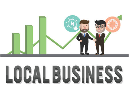 local business: graphic local business illustration design