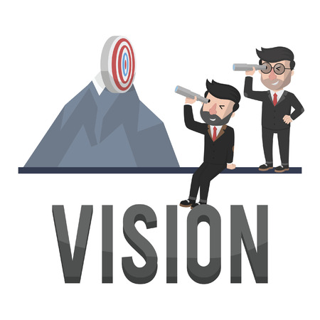 looking through an object: vision entrepreneurs illustration design