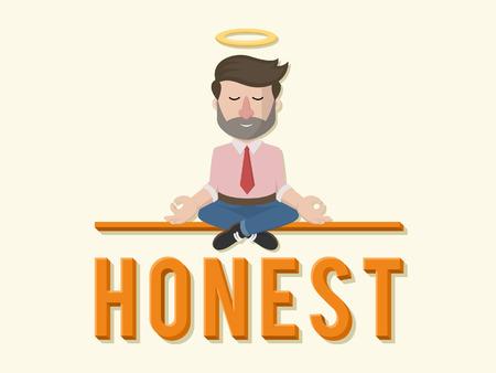Honest business man illustration design