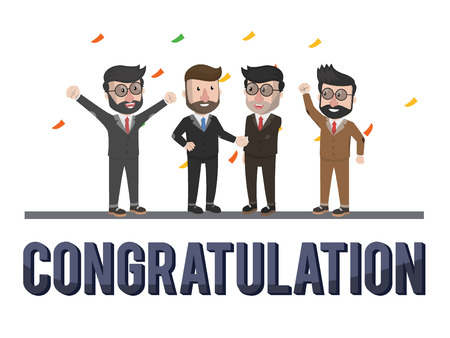 congratulation: businessmen congratulation illustration design