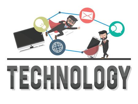 entrepreneurs: technology entrepreneurs illustration design