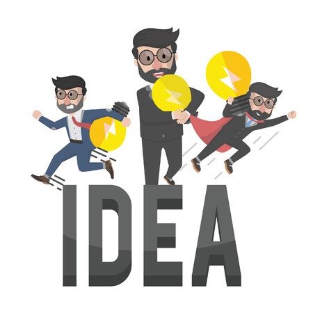 employers: all employers have idea illustration design