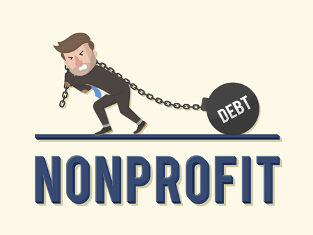 non: Non profit bad business illustration