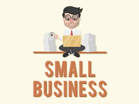 small business: entrepreneurs have a small business illustration design