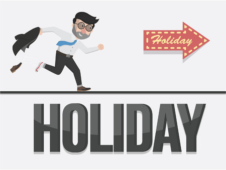 hollidays: time businessman holiday illustration design
