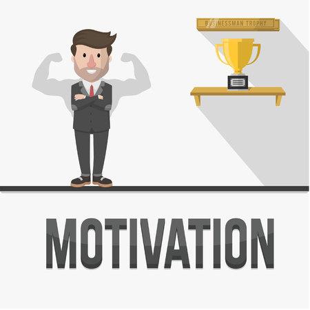 employee of motivation illustration design