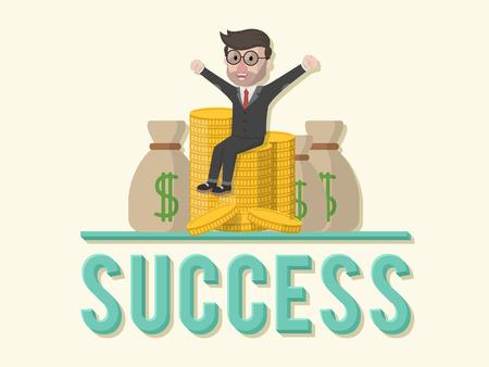 team spirit: Success team spirit business man